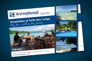 Sample of work done by tk:design for First National Real Estate Santo