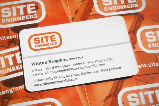 Site Engineers business cards