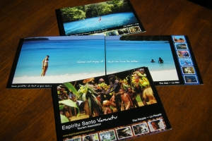 Sample of work done by tk:design for Espiritu Santo Tourism Association